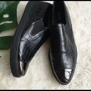 Geox Slip On Black Shoes